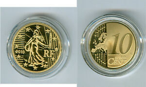France 10 Cent Pp / Proof (Choisissez Entre Les Millésimes : 2007-2020)