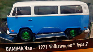 DHARMA-Van-Lost-1971-Volkswagen-Type-2-Scala-1-24-Die-Cast-GreenLight