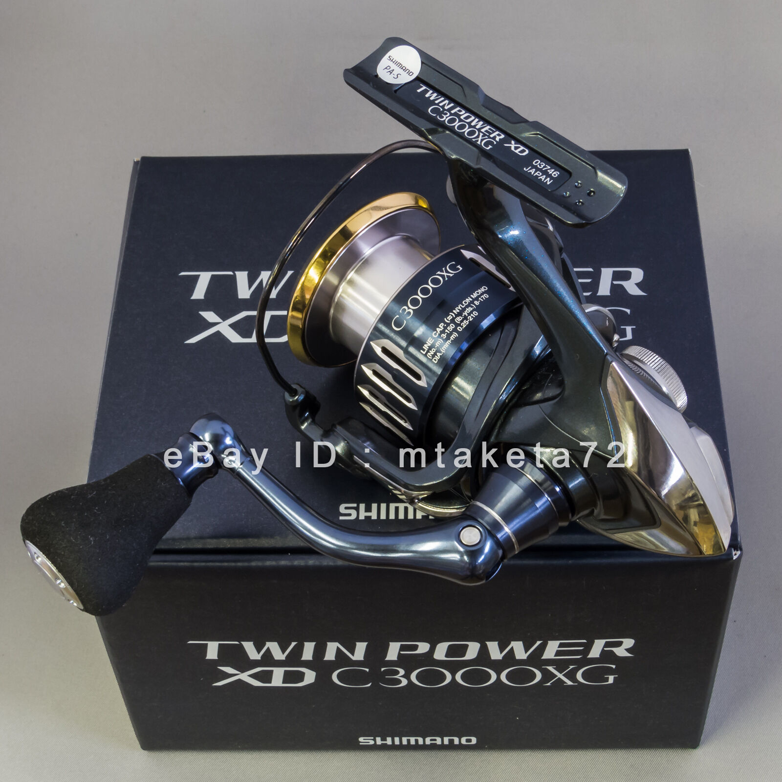 Shimano 17 TWIN POWER XD C3000XG, Spinning Reel Made in Japan, 037466