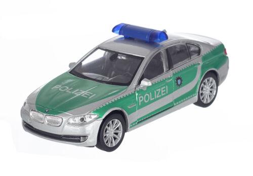 Polizei BMW 535i  12cm Spritzguss Welly Modellauto Neuware grün silber