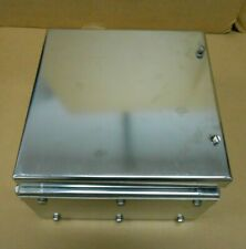 New Crouse Hinds Nxts Aq13149002 Stainless Steel Enclosure 26x26x16 Cm 2 Avail