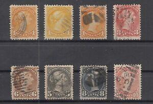 Y4591-CANADA-1873-1893-USED-CLASSIC-LOT-CV-295