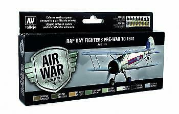 Vallejo Model Air Set RAF /& FAA Day Fighter Pre War to 1941 # 71149