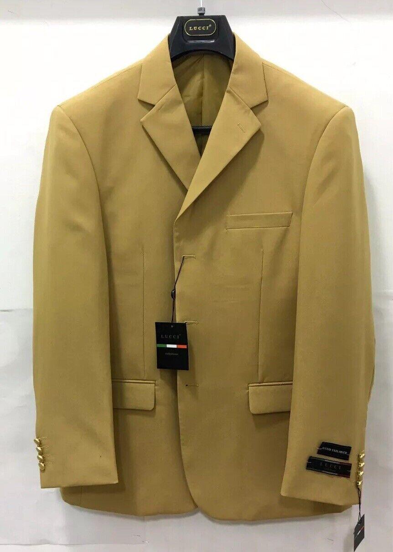 Herren Lucci Gold, 3 Knöpfe, Einreihig, Spitze Revers Revers Revers Mode Blazer Neu     | Online Shop Europe  | Genialität  | Verkauf Online-Shop  4dfb91
