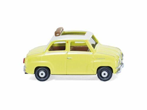 Wiking 18448 Goggomobil de vidrio con abiertas faltdach-amarillo 1:87//h0