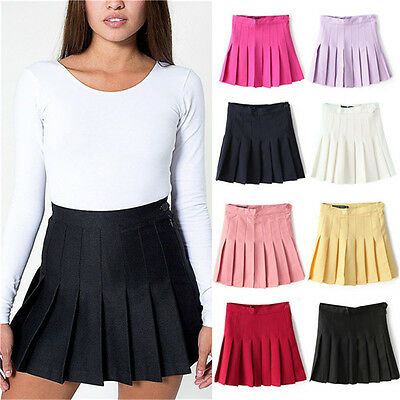 2015 Women Fashion Playful Slim Thin High Waist Pleated Tennis Skirts Mini Dress
