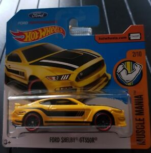 Hot-Wheels-Ford-Shelby-GT350R-Muscle-Mania-2-10-1-64-311-365-2017-Mattel