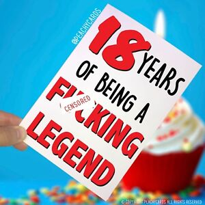 Image Is Loading Funny Adult 18th Birthday Card 18 Years F