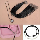 10pcs Bluk Necklace Leather Cord Chain Findings DIY String Rope Lobster Clasp