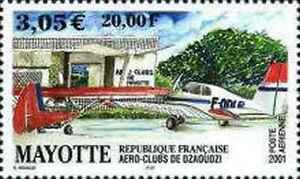 Timbres-Avions-Mayotte-PA5-annee-2001-lot-5797