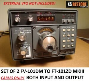 YAESU-FV-101DM-EXTERNAL-VFO-CONNECTING-CABLES-FOR-FT-101ZD-MKIII-ONLY-SET-OF-2