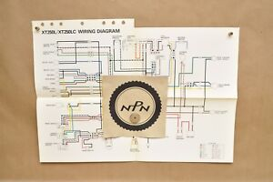 details about vtg 1984 yamaha xt250 l xt350 lc factory color schematic wire wiring  diagram