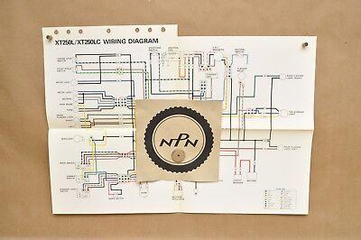 Vtg 1984 Yamaha XT250 L XT350 LC Factory Color Schematic Wire Wiring Diagram  | eBayeBay