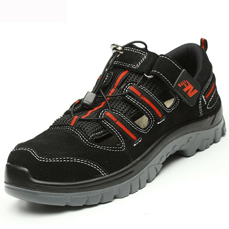 Men Summer Breathable Steel Toe Safety shoes Prevent Puncture Sandals Work Boots