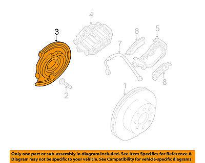 GM OEM Disc Brake-Front-Backing Plate Dust Splash Shield 15716364
