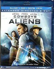 Blu-ray + Dvd **COWBOYS & ALIENS** con Daniel Craig Harrison Ford nuovo 2011