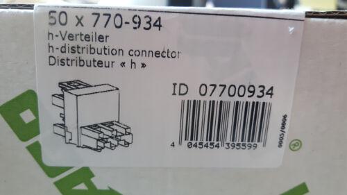 "NEU WAGO Winsta Verteiler 3-polig 770-934 rot 1x Buchse 2x Stecker /""h/"""