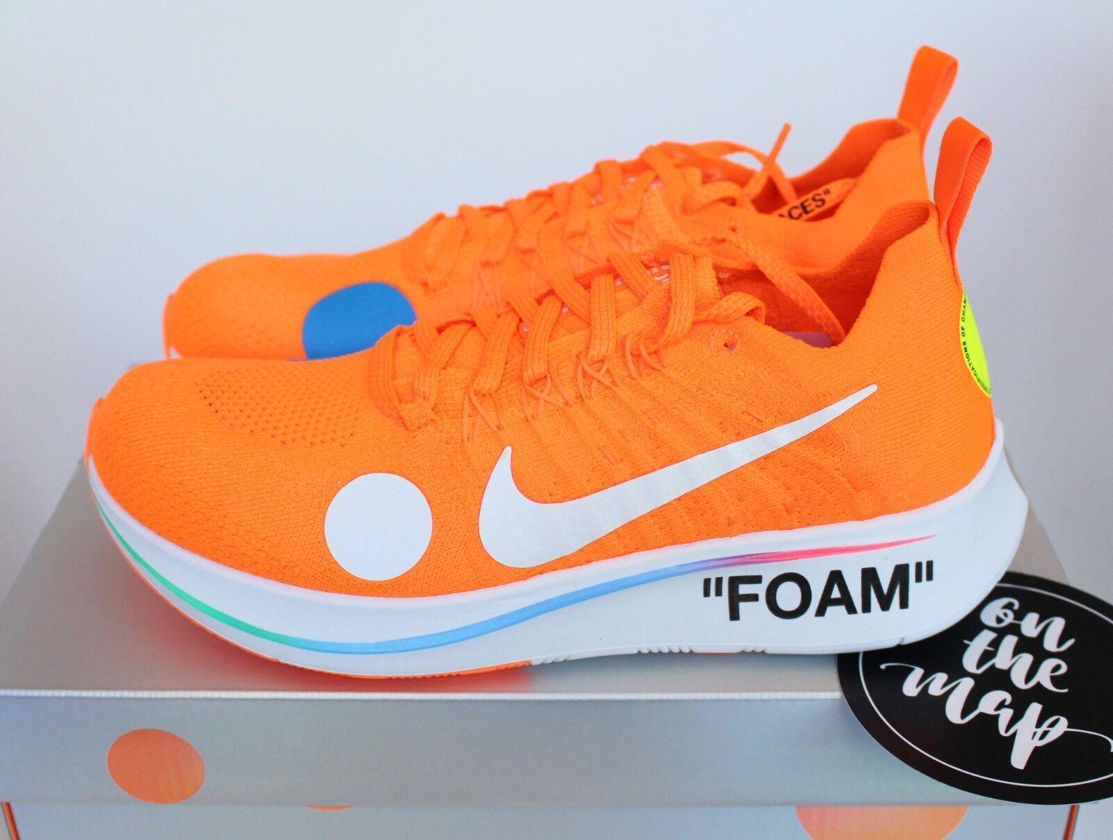 Nike Off Weiß Zoom Fly Mercurial Flyknit Virgil Orange UK 5 7 8 10 11 US New Elegant und feierlich