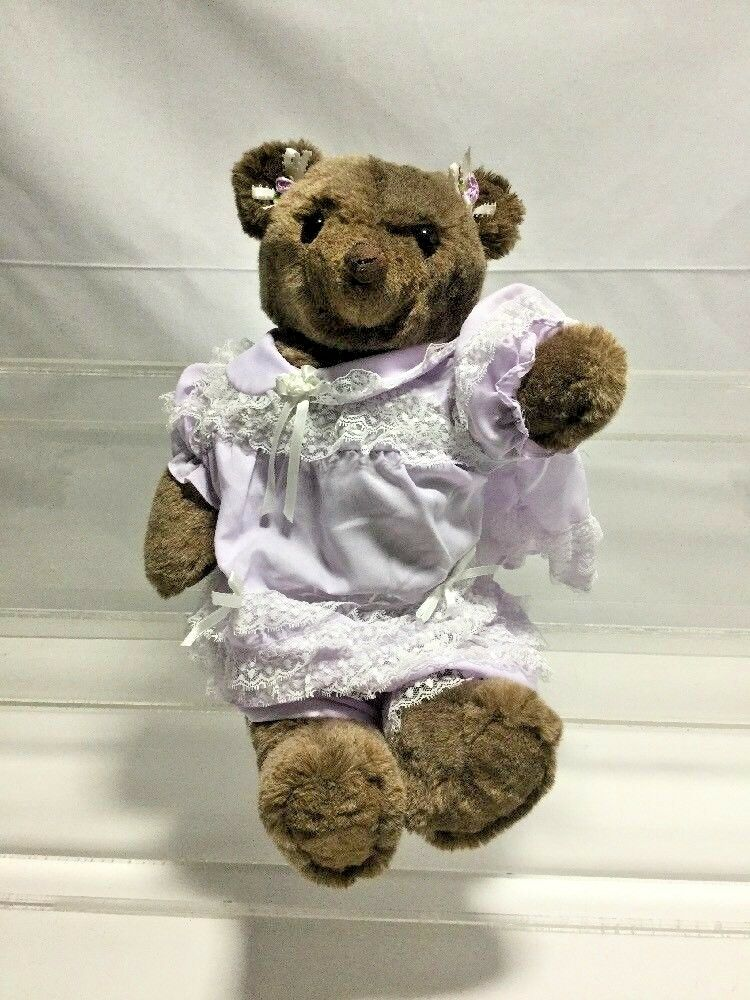 JUST FOR YOU BY MARILYN MOHAIR FULLY JOINTED TEDDY BEAR 17  Tall
