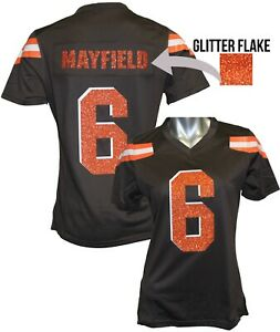 save off fe667 81791 Details about Custom Womens Blinged Football PRO-STYLE Jersey, Baker  Mayfield