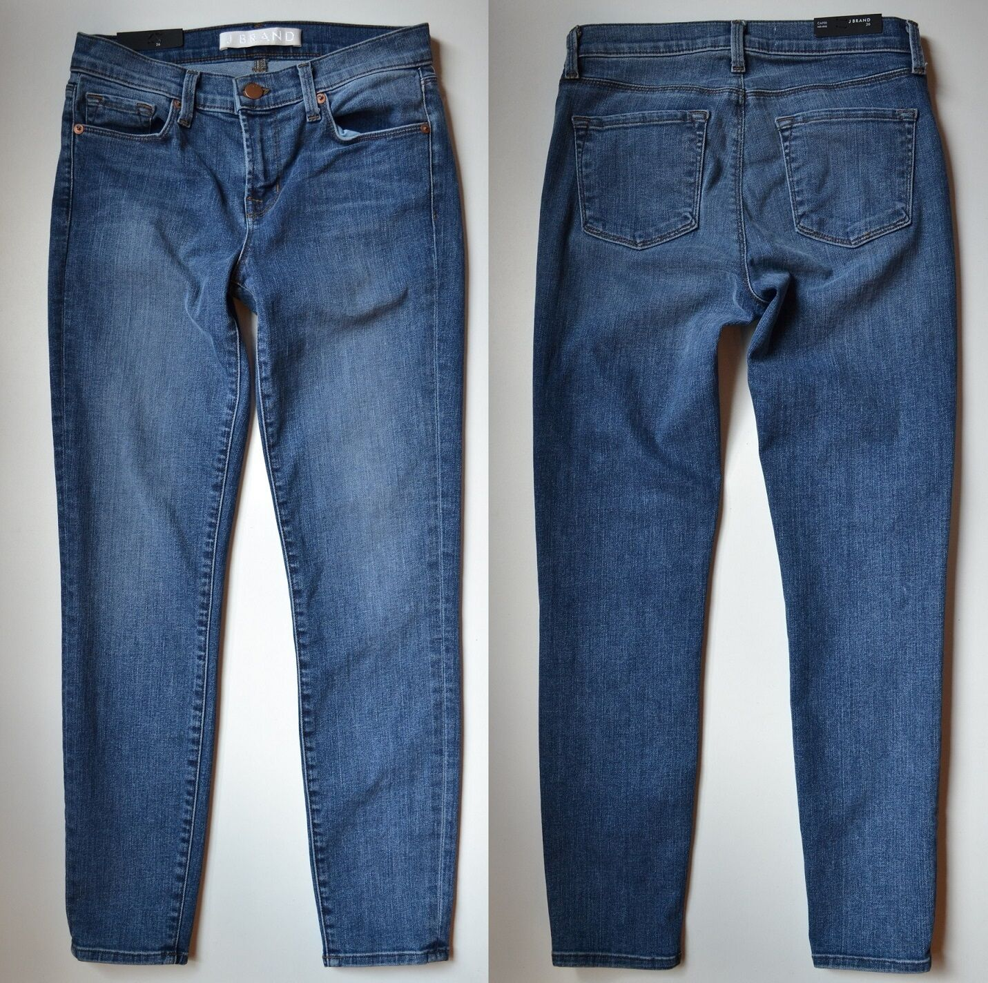 NWOT J Brand 835 Mid-rise Capri Skinny Cropped Jeans in bluee