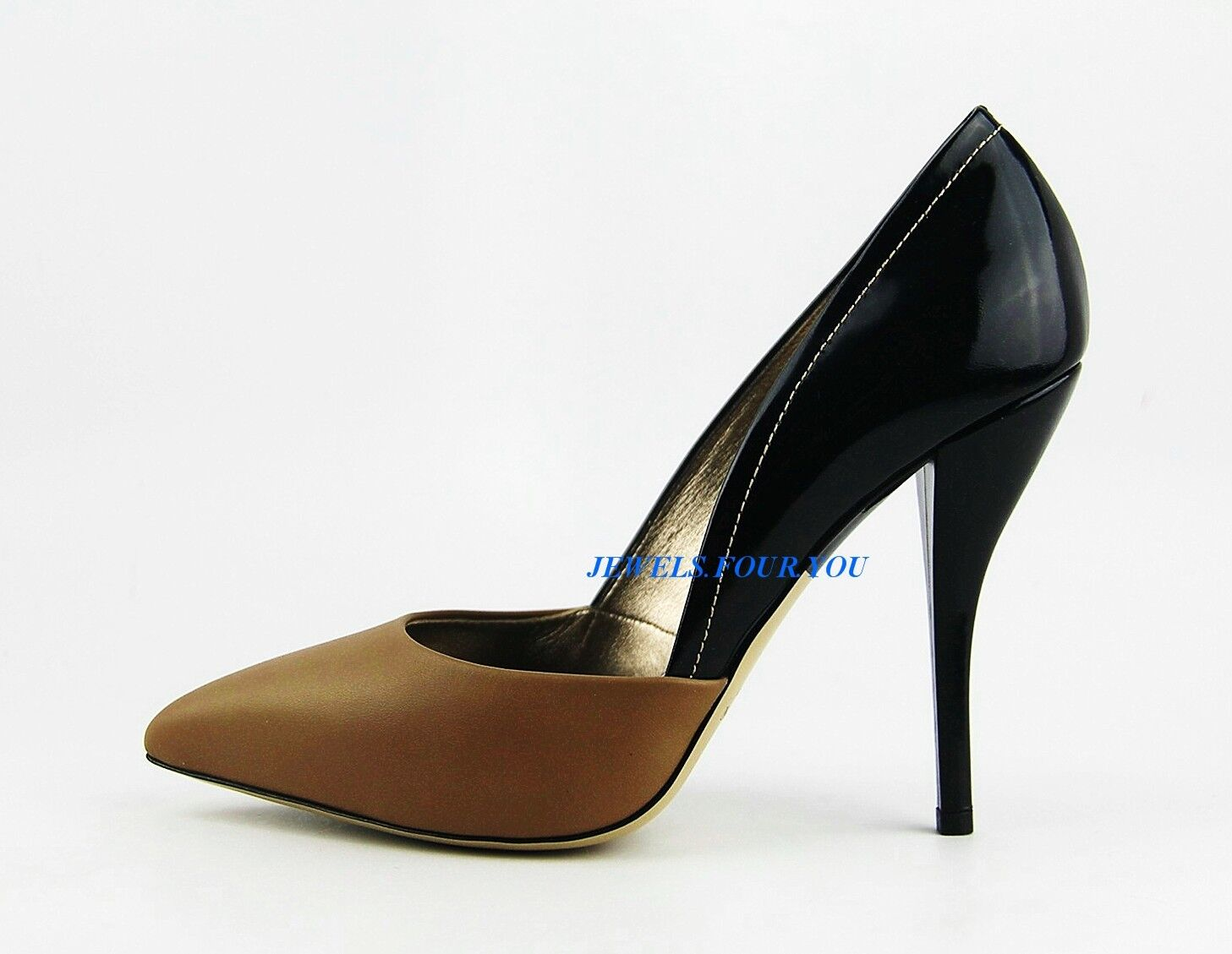 LANVIN SUPER COMFORTABLE LUXURY BEIGE & & & BLACK 4,5  HEEL SHOES ITALY   24 NEW ad5a1d