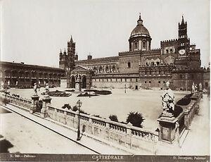 Italia-Palermo-Cattedrale-Incorporato-Vintage-Albumina-Ca-1875
