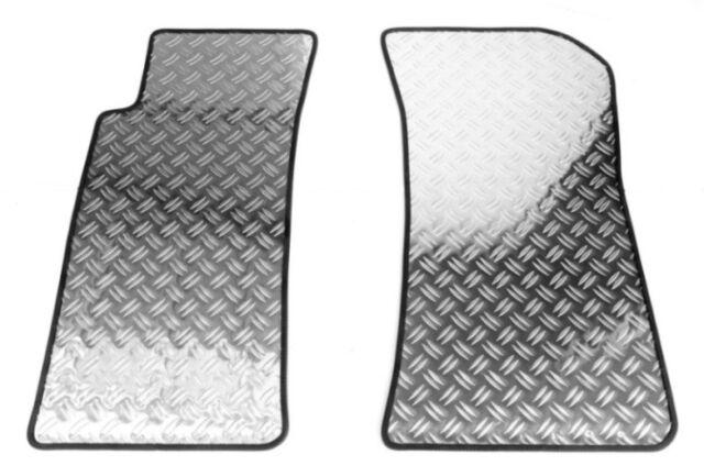 Fußmatten Alu Riffelblech für Nissan Almera N15 5-Türer 1995-2000