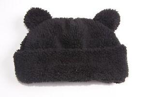 386731a4c2e Fantastic Cute Girls Black Soft Beanie Winter Hat w Bear Ears (S318 ...