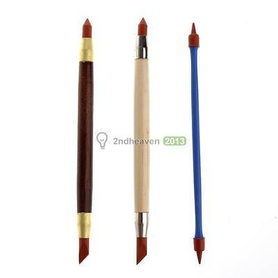 3 Pcs Pottery Clay Carving Tools Art Craft Supplies Double Heads Rubber Pens
