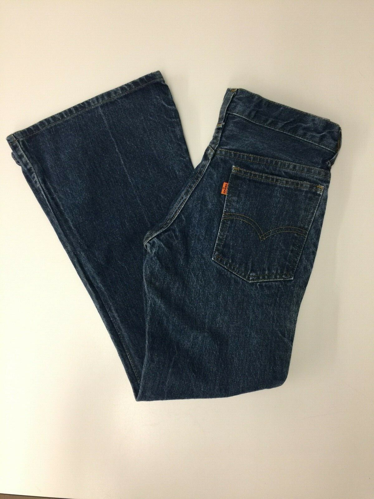 Levi's Vintage 1970s Orange Tab Bell Bottoms 684 … - image 4