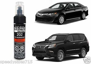 Genuine toyota 00258 00202 21 onyx black touch up paint for Toyota paint touch up pen