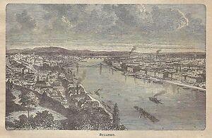 A0753 Budapest - Veduta - Stampa Antica Del 1911 - Xilografia