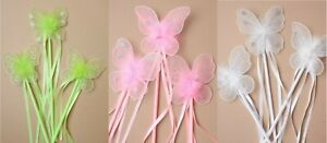 New Princess Fairy Butterfly Magic Wand Flower Girls Wedding Bridesmaid Fairy UK
