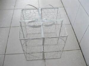1X-Present-Box-Wedding-Wishing-Well-Card-Keeper-Bird-Cage-24x24cm