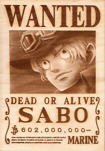 One Piece - Sabo Wooden Wanted Poster