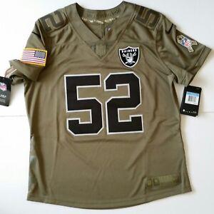 c6e6f01ba Nike NFL Oakland Raiders Jersey Women M Salute Service Olive Khalil ...