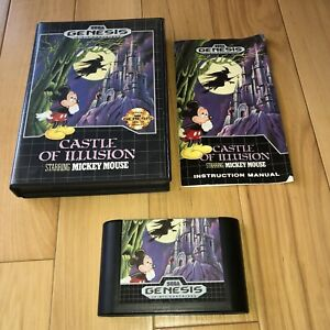 VG-COND-Castle-Of-Illusion-Starring-Mickey-Mouse-Sega-Genesis-Complete-CIB-Works