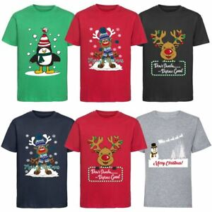 Kids-Boys-Girls-Christmas-T-shirt-Xmas-Tee-Top-Festive-Novelty-Gift-3-12-Years