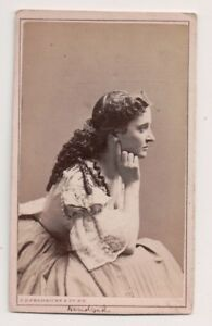 Vintage-CDV-Miss-Hendricks-Early-Victorian-Actress-Fredrick-039-s-Photo