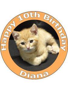 Tremendous 7 5 Kitten Kitty Cat Birthday Cake Toppers Decorations On Edible Funny Birthday Cards Online Necthendildamsfinfo