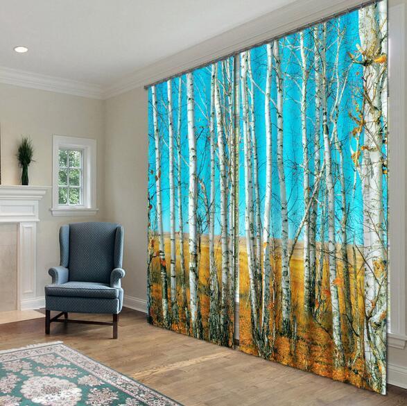 3d sarmientos bosque 43 bloqueo foto cortina cortina de impresión sustancia cortinas de ventana