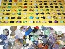 Rock & Mineral educational set find sort & identify with picture chart & stones
