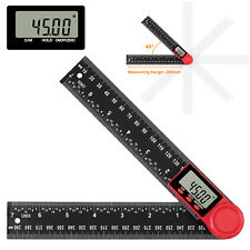 8 In Protractor 0 360 Degrees Digital Lcd Angle Finder Ruler Gauge Measure Tool