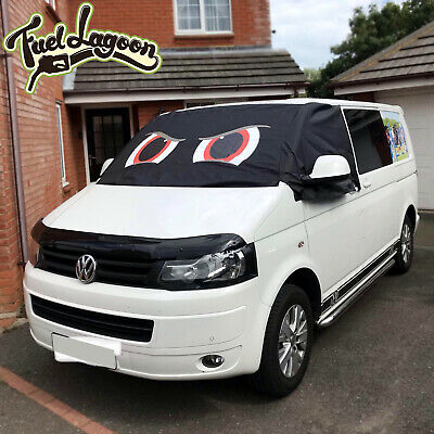 T5 Screen Cover Black Out Blind Window Curtain Wrap VW Camper Van Frost Red