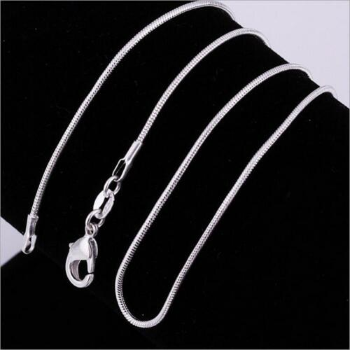 """Wholesale Women Unisex Fashion 925 Sterling Silver Snake Chain Necklace 16-24/""""in"""
