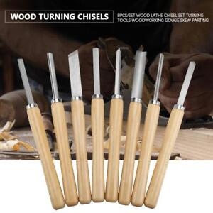 8pcs-Wood-Lathe-Chisel-Set-Carving-Turning-Tools-Woodworking-Gouge-Skew-Durable