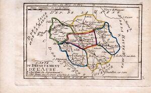 Carte-geographique-XVIIIe-Aube-1798-Chefs-Lieux-du-Departement-Tardieu