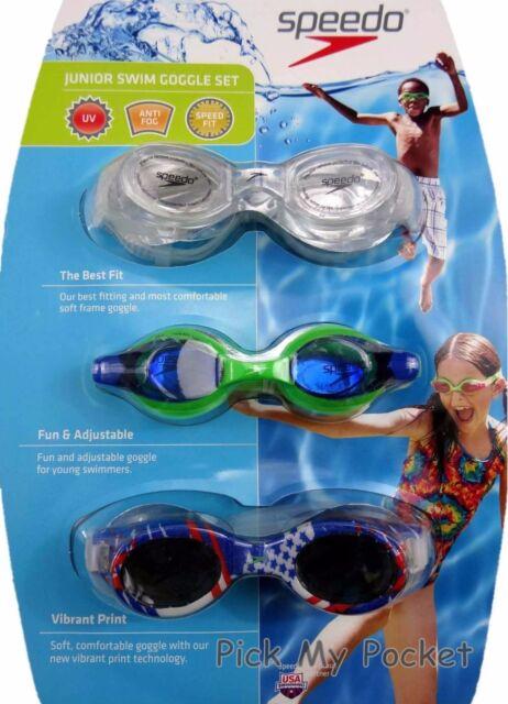 e8530bffbff Speedo Swim Goggles Junior Girls 3 Pack for sale online