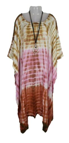 TIE DYE Kaftan Cover Up Beach Hippie Dress Boho Size 18 20 22 24 26 28 30 32